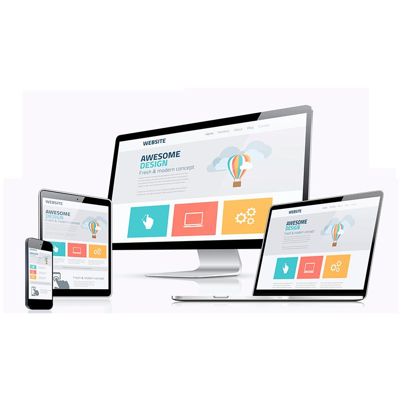 三合一企业网站建设:H5响应式自适应电脑手机和平板兼容浏览器